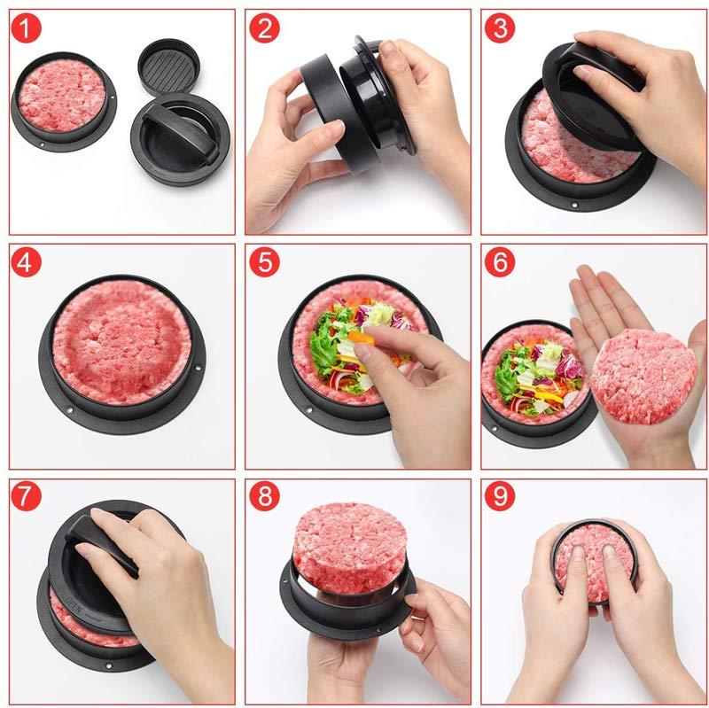 pressa hamburger ripieni