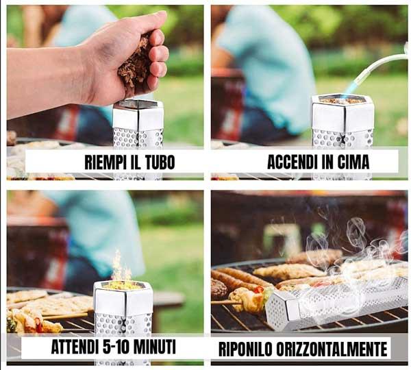 come usare il tubo affumicatore