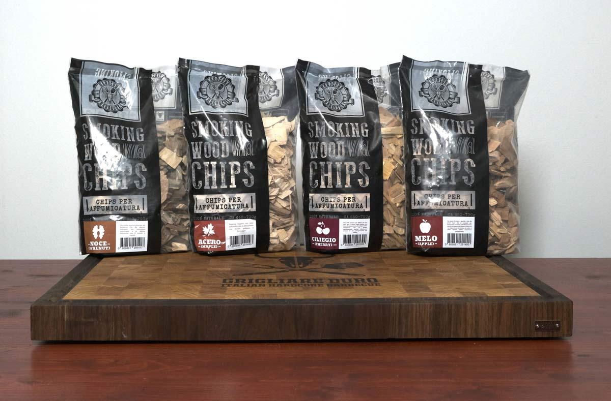 KIT 4 Box Chips affumicatura (Noce, Ciliegio, Melo, Acero)